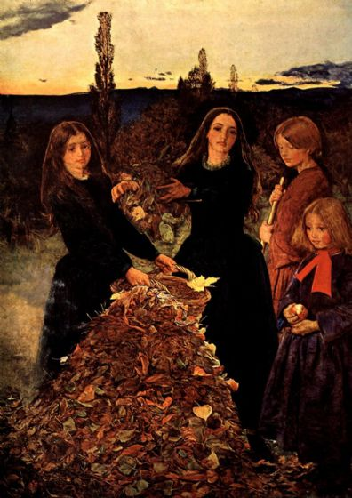 Millais, John Everett: Autumn Leaves. Fine Art Print/Poster. Sizes: A4/A3/A2/A1 (00702)
